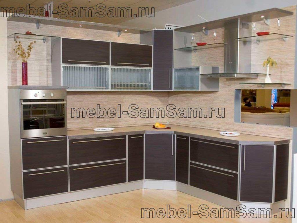 Кухни ЛДСП в алюминиевой рамке