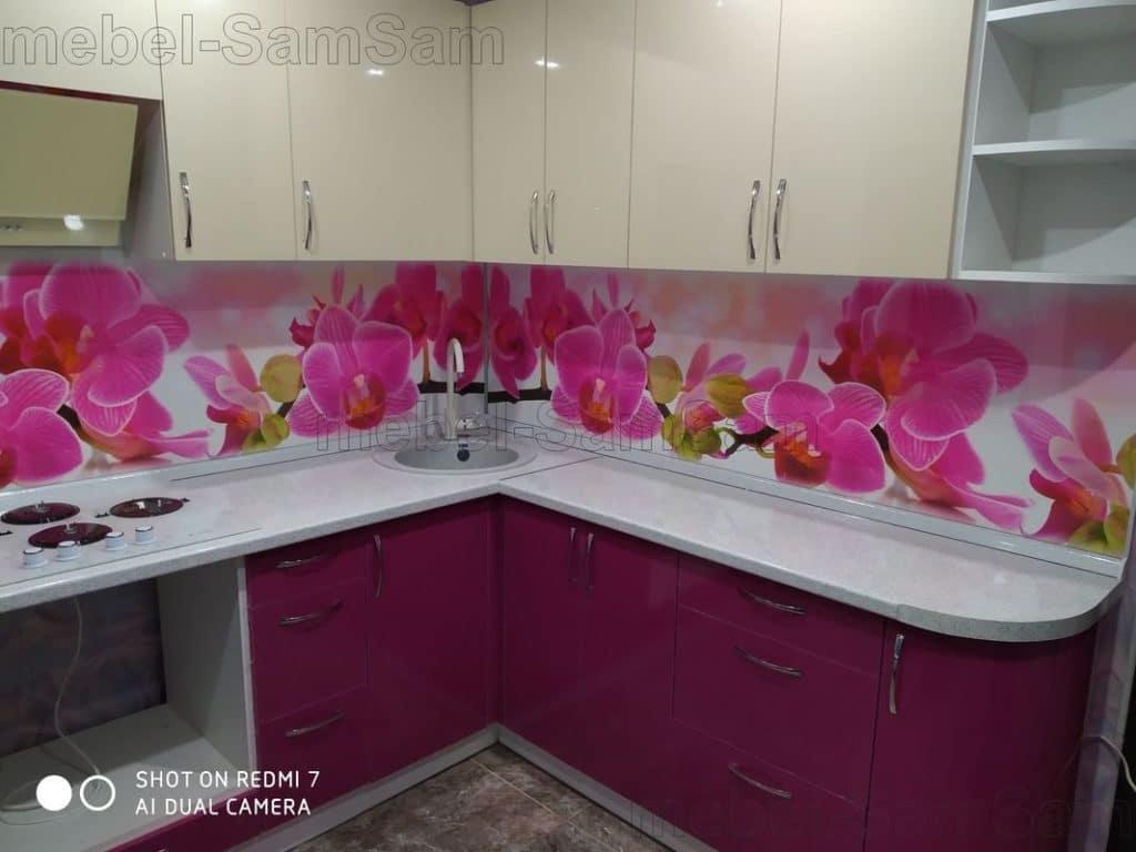 Кухня Орхидея розовая